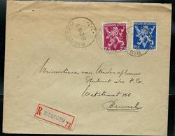 Doc. De BISSEGEM  20/02/48 En Rec. Avec N° 685 Et 683A V De La Victoire - Marcophilie