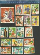 VIVO - TEENAGERS 1930 - 1970 Matchbox Labels BELGIUM - Matchbox Labels
