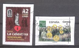 España 2019 - 2 Sellos Usados Y Circulados-La Celestina Fiestas Populares Y Seguridad Social-Espagne Spain Spanien - 1931-Oggi: 2. Rep. - ... Juan Carlos I