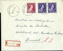 Doc. De BILZEN - B - Du 15/12/51   En Rec. - Marcophilie