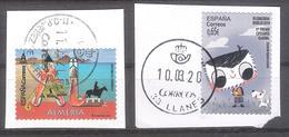 España 2020 - 2 Sellos Usados Y Circulados-Diseño Categoría General Y Almeria-Espagne Spain Spanien - 1931-Oggi: 2. Rep. - ... Juan Carlos I