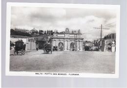 MALTA Porte Des Bombes- Floriana Ca 1930 Old Photo Postcard - Malta