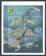 H983  NEVIS FAUNA PREHISTORIC ANIMALS DINOSAURS WORLD STAMP EXPO 1999 1KB MNH - Stamps