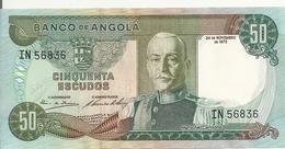 ANGOLA 50 ESCUDOS 1972 UNC P 100 - Angola