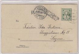 Ennetbürgen (Obwalden) - Stabstempel Auf Ansichtskarte Mit Strass - 1900         (P-241-00116) - Postmark Collection