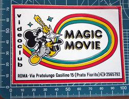 MAGIC MOVIE ROMA VINTAGE STICKER ADESIVO NEW ORIGINAL - Pegatinas