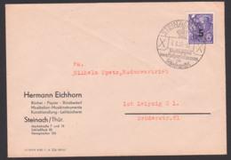 Steinach Thüringen 6.6.55, 5 Pf. Auf 6 Pf, SoSt. Weltbekannt Durch Holzspielwaren Und Schiefergriffel, Abb. Hund, Dog - DDR