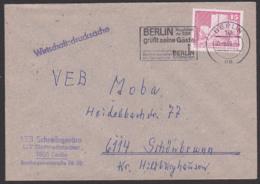 Wirtschaftsdrucksache MWSt. BERLIN Hauptstadt Der DDR Grüßt Seine Gäste, Information Am Fernsehturm, 15 Pf. Fischerinsel - DDR
