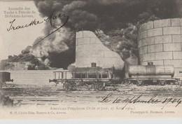 Hoboken Bij Antwerpen, Incendie Des Tanks à Pétrole, American Petroleum Company, Le 2e Jour - Antwerpen