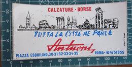 ANTUONI CALZATURE ROMA VINTAGE STICKER ADESIVO NEW ORIGINAL - Pegatinas