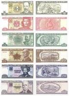 CUBA Set (6v) 1 3 5 10 20 50 Pesos  P 128 127 116 117 122 123 UNC - Cuba