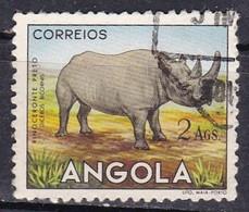 Angola, 1953 - 2a Black Rhinoceros - Nr.370 Usato° - Angola