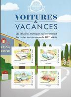 France 2020 - Collector - Voitures & Vacances (campagne) - Simca Ariane - Aronde - Renault 4 CV - Renault Dauphine ** - France