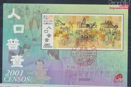 Macau Block93 (kompl.Ausg.) Gestempelt 2001 Volkszählung (9448915 - Gebraucht