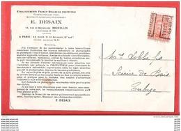 Préo Roulette 1919 Sur CP Pub éditeur De Carte Postal E.DESAIX 10, Rue De Moorslede Intéressant ! Cfr Dos Tournai Cheval - Precancels