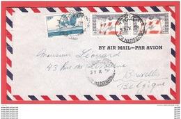 L  LIBAN  République Libanaise  30 X 1946  By Air Mail  Vers Bruxelles - Lebanon