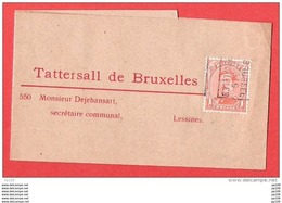 TP Préo Albert BRUXELLES BRUSSEL 1919 Sur Manchon Tattersall De Bruxelles Vers Lessines Tarif Imprimé - Precancels