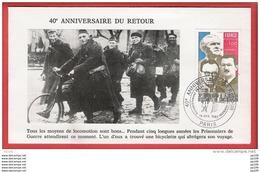 FRANCE TP 1853 (1889) Libération Des Camps De Concentration Obl 40ème Anniversaire Du Retour 14 IV 1985 PARIS - Frankrijk