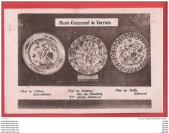 CP MUSEE COMMUNAL De VERVIERS  Années 20 Porcelaine Chine  Plat Lindos Faïence Delft - Verviers