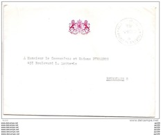 Grande Lettre En Franchise  Avec Contenu (remerciement Pour Hommage Mémoire Reine Astrid) Obl Palais  Bruxelles 2 IX 68 - Marcophilie