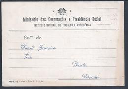 Postal Do SR - Serviço Da República Isento De Porte 1963. Tires. Parede. Postal SR Service Republic Exempt From Postage - 1910-... République