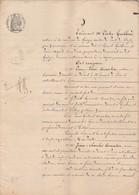 VP 8 FEUILLES - 1856 - PARTAGE - GRIEGES - PONT DE VEYLE - ST LAURENT DE L'AIN - GARDE DES EAUX ET FORETS - DELLYS - Manoscritti