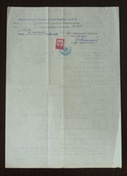 Yugoslavia 1967 Croatia Slovenia Consular Revenue Stamp On Document B12 - 1945-1992 Sozialistische Föderative Republik Jugoslawien