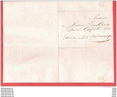 L  TOURNAY Le 20 IX 1827  Administration De L'enregistrement Et Des Domaines Vers QUEVAUCAMPS 7 Sous Au Porteur ! - 1815-1830 (Periodo Holandes)