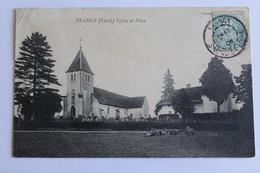 Frangy - Eglise Et Place - 1905 - Autres Communes