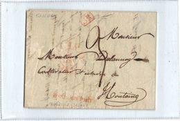 Belgie - Belgique - Brief Verstuurd Van Tournay 15 Jan 1839 - Stempel Tournay - SR - Après Le Départ - 1869-1883 Leopoldo II