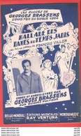 "Belle Illustration Partition Ancienne ""Ballade Des Dames Du Temps Jadis"" BRASSENS Editions Ray Ventura - Partitions Musicales Anciennes"