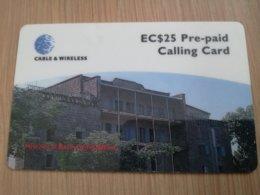 ST KITTS & NEVIS  $25,- HISTORICAL BATH HOTEL NEVIS  SKB -16   Prepaid     Fine Used Card  ** 2107** - Saint Kitts & Nevis