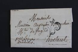 1852 LAC ATTIGNY 14 JANVIER 1852 POUR HURTAUT CAD DE MEZIERES DU 16/01 ET CAD ARRIVEE PAR SIGNY L'ABBAYE 18/01/1852 - Marcofilia (sobres)