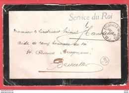 L (deuil Reine ASTRID)  Franchise SERVICE DU ROI Obl 19 XI 1935 + Contenu Les Mélomanes De La Grande Ghète HOEGAARDEN - Marcophilie