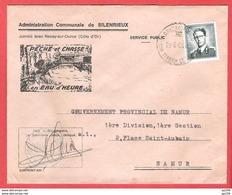 L Administration Communale  SILENRIEUX  Avec Illustration PECHE Et CHASSE  TP Baudouin Lunettes Obl MARIEMBOURG 28 VI 69 - Belgique