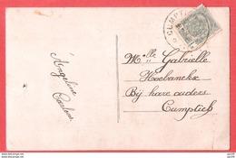 CP Obl étoiles Relais CUMPTICH 19 IX 1912 Indice E - Marcophilie