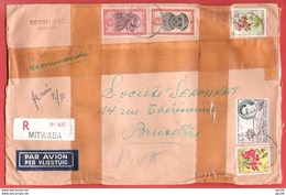 CONGO BELGE  L Pesante  Par Avion By Air Mail  En Recommandé Obl MITWABA 7 V 1936 Vers BRuxelles - 1923-44: Briefe U. Dokumente