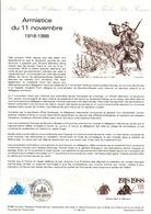 DOCUMENT FDC 1988 70 ANS ARMISTICE DE 1918 - Documents De La Poste