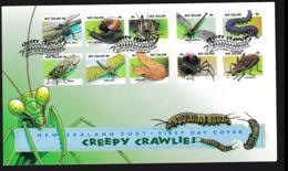 New Zealand FDC 1997 Creepy Crawlies (NB**LAR9-100) - Sonstige