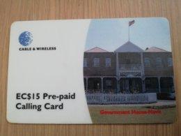 ST KITTS & NEVIS  $15,- GOVERNMENT HOUSE NEVIS   SKB -23   Prepaid     Fine Used Card  ** 2110** - Saint Kitts & Nevis