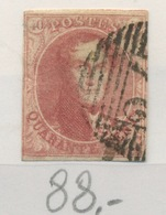 5. Ø. Filigrane Encadré.cote. 575,-€ Un Peu à L'étroit Mais Joli Timbre.  Beetje Scherp Maar Mooi - 1849-1850 Médaillons (3/5)