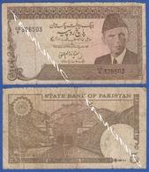 PAKISTAN 5 Rupees 1985 JINNAH MUHAMMAD ALI And RAILROAD TUNNEL - Pakistán