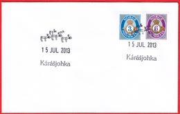 NORWAY - Karasjok 2013 «Kárásjohka = Lappish Writing» (conventionalized Reindeer) - Polarmarken