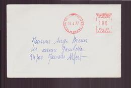 France, Enveloppe Du 14 Avril 1977 De Villeneuve-le-Roi Pour Maisons-Alfort - France