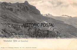 WIESBADNER HUTTE Mit KAISERKOP AUSTRIA ~ 1907 K GNADINGER PHOTO POSTCARD 46392 - Österreich