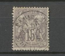 Classique Sage N°66 15c Gris Type I N/B Oblitéré TB. X227 - 1876-1878 Sage (Type I)