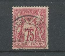 Classique Sage N°71 75c Carmin Type I N/B Oblitéré TB. X238 - 1876-1878 Sage (Type I)
