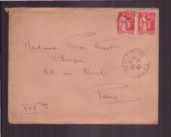 France, Enveloppe Du 20 Mars 1940 De Berlaimont Pour Paris - France