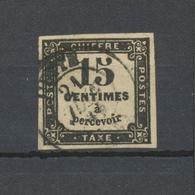 France Timbres-Taxe N°3 15c Noir Type I Obl. Petit CAD. TB. P5126 - 1859-1955 Oblitérés