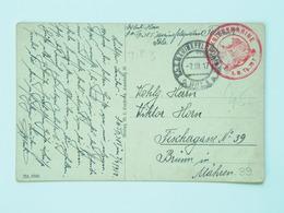 39 Austria KuK K.u.K.marine Navy Pola Kriegsmarine Ship Schiff Stamp Stampel 1916 S M B S.M.B.78 T TIP 3 - Guerre